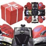 VEESUN Explosion Box Scrapbook, Album Foto Fai da Te di Scatola Sorpresa, Album Fotografico Idee Regalo per Matrimonio Festa della Compleanno Donna...
