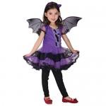 VICGREY ❤ Bambino Bambini Baby Girl Vestiti di Halloween Vestito Costume + Capelli Hoop + Bat Ala Vestito, Halloween Costume Costumi