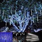 Victorstar @ 30CM 10 Tubi 360 LED Luci Pioggia di Meteore / Luci Nevicata - Matrimonio, Partito, Natale, Xmas, Paesaggio Albero Decorazione - Due F...