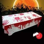 Tovaglia Di Halloween, Tovaglie di sangue di Halloween, tovaglia insanguinata da brividi, decorazione del partito di Halloween Tovaglia di sangue (...