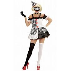 WIDMANN WDM05762 - Costume Per Adulti Pierrot Girl, Multicolore, M