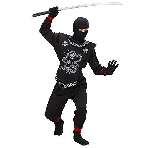 WIDMANN WID74527 - Costume per Bambini Ninja Nero, Nero, 140 cm/8-10 Anni