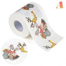 Wonderfulwu di Natale di carta igienica, stampe Funny Merry Christmas modello carta igienica per tavolo da salotto bagno A
