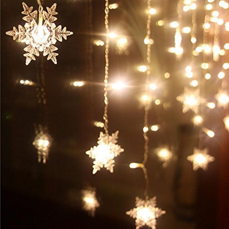 Immagini Luminose Natale.Xguo 3 5m 96 Led Luci Natalizie Catene Luminose Led Spina Di