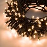 Catena 12,5 m, 300 led bianco caldo, con giochi di luce, cavo verde, EX Best Value, luci per l'albero di Natale, luci colorate, luci natalizie