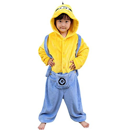 YAOMEI Bambini Unisex Kigurumi Pigiama Onesie, 2018 Ragazza Ragazzo Anime Cosplay Halloween Natale Party Costume Attrezzatura Sleepwear (130-140CM(...