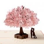 Biglietto d'auguri Carta 3D Compleanno Romatico, Pop up Carta Anniversario, Carte Regalo di Natale