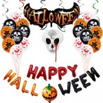 Yidaxing Store Kit di Palloncini di Halloween, Set di Palloncini di Pipistrelli di Zucca per la Decorazione di Halloween, Halloween Party Set,Decor...