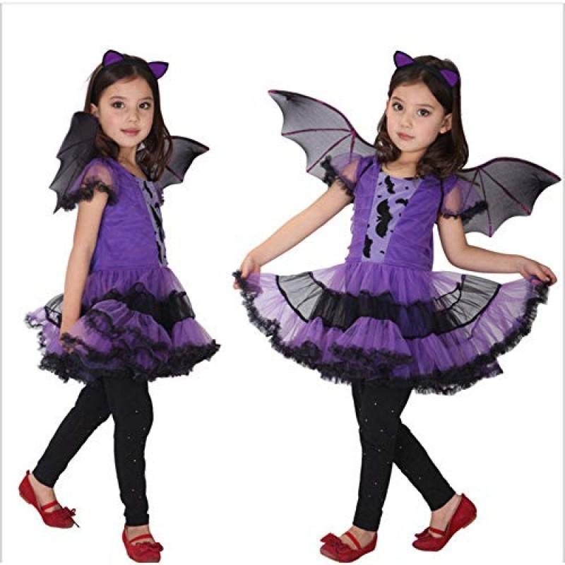 Vestiti Halloween Bambina 3 Anni.Yiwuhu Costume Halloween Per Bambini Ragazze Viola Pipistrello