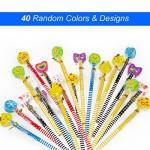 Set matita del fumetto, Attiant 40 Pcs matita in legno con gomma matite grafite colorate con gomme, Materiale Scolastico Regalo dei Bambini, for fe...