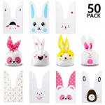 Yosemy Sacchetti Compleanno, Sacchetto per Caramella Confetti Borsa di Regalo Sacchetto Coniglietto di Forma del Coniglio Sacchetti di Biscotto (50...