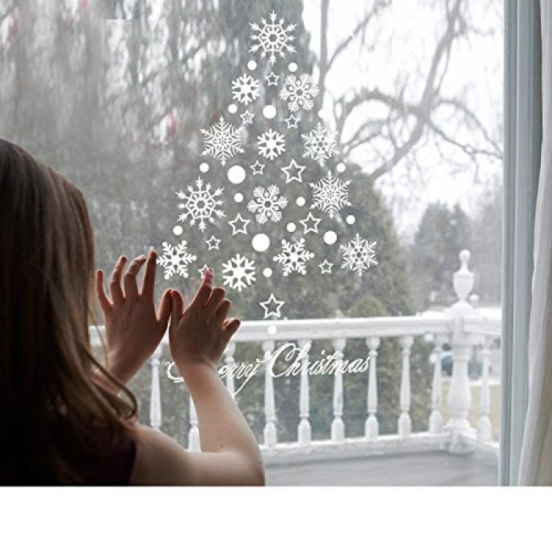 Decorazione Di Natale Fiocco Di Neve Con Led Per Finestra