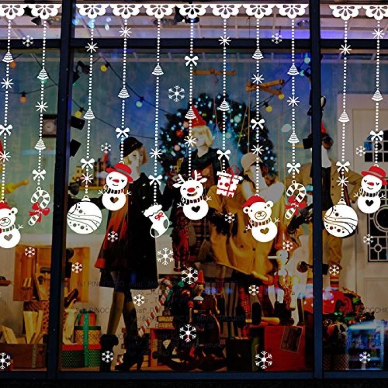 Yuson Girl Natale Adesivi Display Rimovibile Natale Addobbi