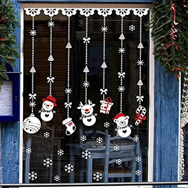 Natale Vetrofanie Rimovibile Adesivi Murali Fai Da Te